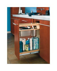 """8"""" Vanity Grooming Organizer, for 12"""" Full Height Vanity Cabinet, Base Height Natural"""