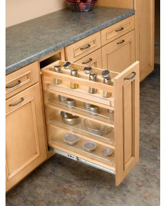"Spice Rack for 5"" Soft Close 448 Series Base Organizers Natural"