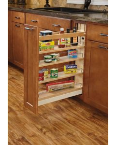 """5"""" Base Organizer with ball bearing soft-close slides for 9"""" Full Height Base Cabinet Natural"""
