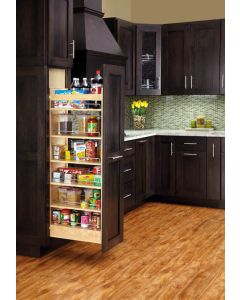 "43"" H x 11"" Wood Pantry With slide Natural"