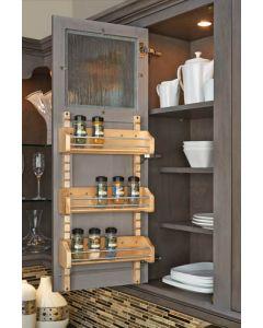 Adjustable Door Mount Spice Rack Standards Natural