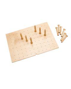 Wood Board for Peg System - Medium Natural, SKU: 4DPB-3021