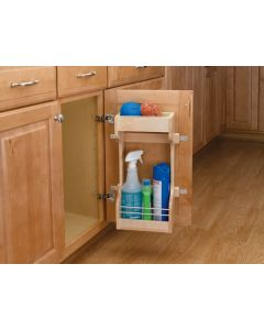 "Sink Base Door Storage Organizer for 42""-45"" Sink Base Cabinet Natural"