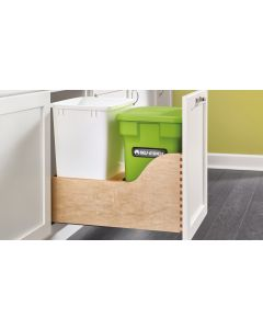 Double Bottom Mount Waste Pullout with Compost Container in Wood Frame with Blum® Soft-Close Slides