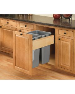 Double 35 Qt. Rev-A-Motion Top Mount Waste Container Natural