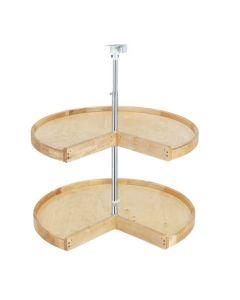 "24"" Wood Pie-Cut for 33"" x 33"" Corner Cabinet - 2 Shelf Set Natural"