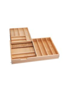 33 in 2-Tiered Cutlery Drawer Soft Close, SKU: 4WTCD-36SC-1