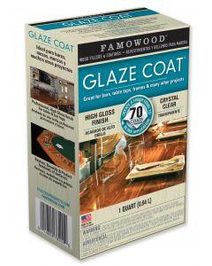 FAMOWOOD GLAZE COAT EPOXY COATING 1 Quart Kit