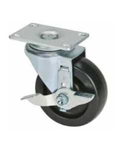 "4"" Swivel Caster with Brake 300 lb HDP (High-Density Polyolefin)"