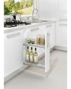 """6"""" Grey Two-Tier Base Organizer with Soft-Close"""