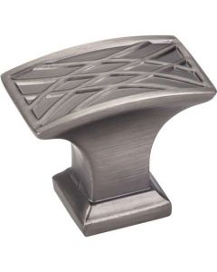 "Brushed Pewter 1-1/2"" [38.00MM] Knob by Jeffrey Alexander sold in Each - 535L-BNBDL"
