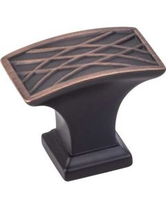 "Brushed Oil Rubbed Bronze 1-1/2"" [38.00MM] Knob by Jeffrey Alexander sold in Each - 535L-DBAC"