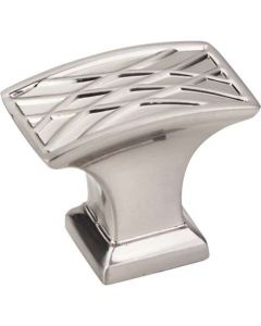 "Satin Nickel 1-1/2"" [38.00MM] Knob by Jeffrey Alexander sold in Each - 535L-SN"