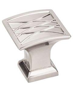 "Satin Nickel 1-1/4"" [32.00MM] Knob by Jeffrey Alexander sold in Each - 535SN"