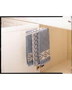 3 Prong Towel Bar White