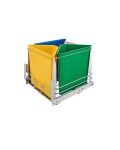 Soft-Close Bottom Mount Recycle Center Chrome, SKU: 5BBSC-WMDM24-C