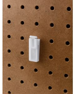 Pegboard Clips for Door Storage White