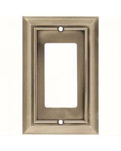 """Satin Nickel 7-1/2"""" [190.50MM] 1 Rocker Wall Plate by Brainerd sold in Each - 64176"""