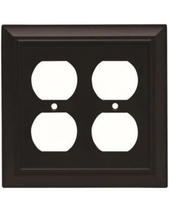 "Flat Black 6"" [152.50MM] 4 Plug Outlet Wall Plate by Brainerd sold in Each - 64210"