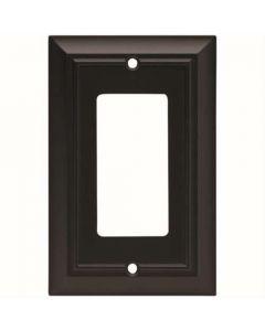 """Flat Black 6"""" [152.50MM] 1 Rocker Wall Plate by Brainerd sold in Each - 64216"""