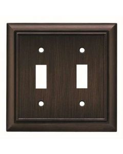 "Venetian Bronze 7-1/2"" [190.50MM] 2 Toggle Wall Plate by Brainerd sold in Each - 64239"
