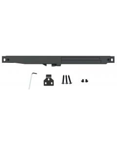 U.S. Futaba Matte Black Soft Close Mechanism for Flat Rail Barn Door Hardware