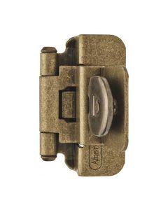 "Burnished Brass Double Demountable 3/8"" Inset Hinge by Amerock, SKU: 8702-BB"