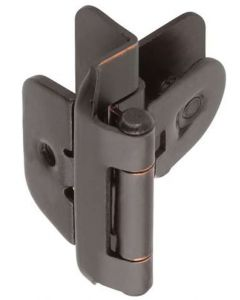"Oil Rubbed Bronze Double Demountable 3/8"" Inset Hinge by Amerock sold as Pair, SKU: CMR8700ORB"