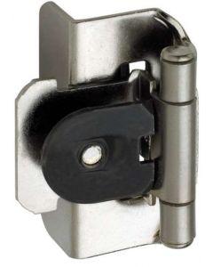 """Sterling Nickel Double Demountable 1/2"""" Overlay Hinge by Amerock sold as Pair, SKU: CMR8704G9"""