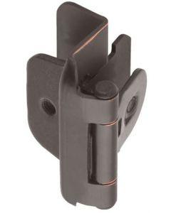 "Oil Rubbed Bronze Double Demountable 1/2"" Overlay Hinge by Amerock sold as Pair, SKU: CMR8704ORB"