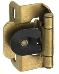 Burnished Brass Single Demountable Hinge by Amerock sold as Pair - CMR8719BB