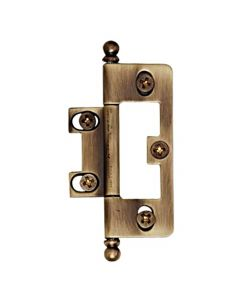 "Antique English Matte 3-1/8"" [79.30MM] Self-Mortise Hinge by Alno sold as Pair - A1093-AEM"