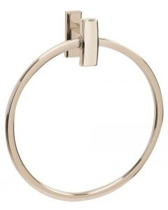 "Polished Nickel 7-3/4"" [197.10MM] Towel Ring by Alno - A7540-PN"