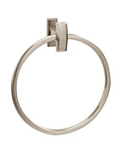 "Satin Nickel 7-3/4"" [197.10MM] Towel Ring by Alno sold in Each - A7540-SN"