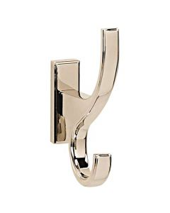 "Polished Nickel 4"" [101.50MM] Robe Hook by Alno - A7599-PN"