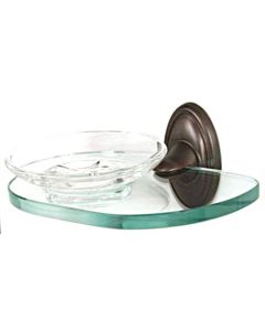 """Chocolate Bronze 6-5/8"""" [168.00MM] Soap Dish by Alno - A8030-CHBRZ"""