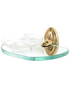 """Polished Brass 6-5/8"""" [168.00MM] Soap Dish by Alno - A8030-PB"""