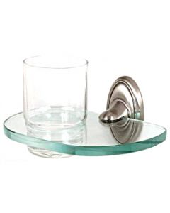 """Satin Nickel 6-5/8"""" [168.00MM] Tumbler by Alno - A8070-SN"""