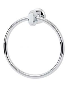 "Polished Chrome 7"" [178.00MM] Towel Ring by Alno - A8640-PC"