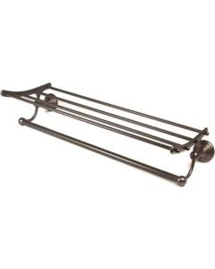 """Chocolate Bronze 24"""" [609.60MM] Towel Rack by Alno - A9026-24-CHBRZ"""