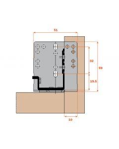 Salice  Drawer Slide Rear Mounting Bracket  AGSKXC5