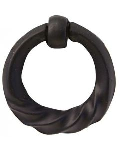 """Matte Black 1-3/8"""" [35.00MM] Ring Pull by Alno - AW917-MB"""