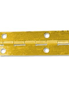 "Brass Continuous Piano Hinge 1-1/2""x100'x.0315"""