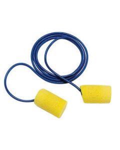 3M™ Single Use Classic™ Cylinder Shape PVC Foam Corded Earplugs With Vinyl Cord (1 Pair Per Poly Bag, 200 Pair Per Box)