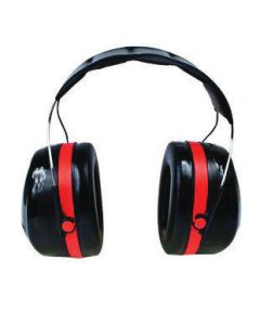 3M™ Peltor™ Optime™ 105 Black And Red ABS Over-The-Head Hearing Conservation Earmuffs With Liquid/Foam Earmuff Cushions