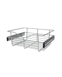 Pull-Out Closet Basket, 18W x 14D x 7H Chrome CB-181407CR-1