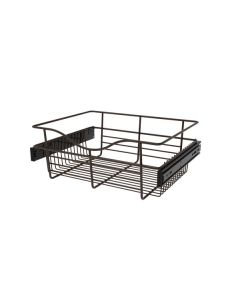 Pull-Out Closet Basket, 18W x 14D x 7H Oil Rubbed Bronze CB-181407ORB-1
