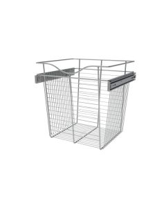 Pull-Out Closet Basket, 18W x 16D x 18H Chrome CB-181618CR-1