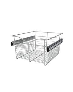Pull-Out Closet Basket, 18W x 20D x 11H Chrome CB-182011CR-1