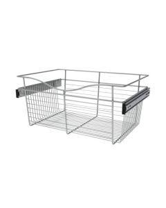 Pull-Out Closet Basket, 24W x 16D x 11H Chrome CB-241611CR-1